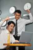 124企业时钟办公室 库存图片