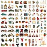 124 комплект иконы espeac 100 mega Стоковое Изображение