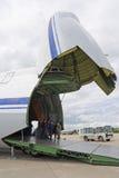 124 2009 ruslan flygplanmaks Royaltyfri Bild