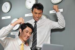 125企业时钟办公室 免版税库存照片
