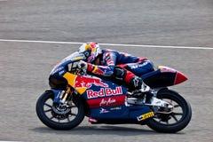 125cc摩托车飞行员 图库摄影