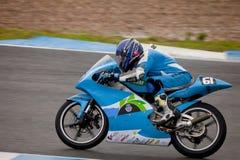125cc摩托车飞行员 免版税库存照片