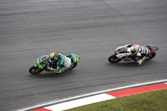 125cc活动motogp赛跑 免版税库存图片