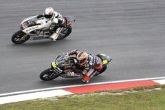 125cc赛跑端的活动motogp 免版税图库摄影