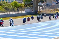 125cc начинают гонку cev неровную Стоковые Фото