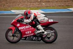 125cc motorcycling του Javier Martinez πειραματικό Στοκ φωτογραφία με δικαίωμα ελεύθερης χρήσης