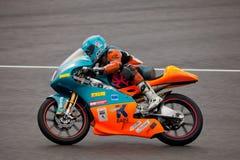 125cc motorcycling pilot Obrazy Stock