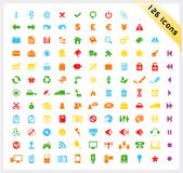 126 färgrika symboler ställde in blankt Arkivbilder