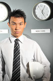 127企业时钟办公室 免版税库存图片