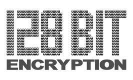 128 bit encryption. Text with padlocks illustration Stock Image