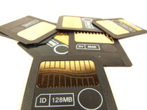 128 tarjetas de memoria del mb fotografía de archivo libre de regalías