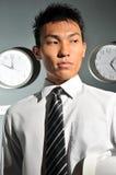 129企业时钟办公室 库存照片