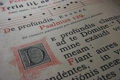 129 psalmus 免版税库存照片