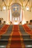 12de cen. Romaanse kerk, St Servaas Stock Afbeeldingen