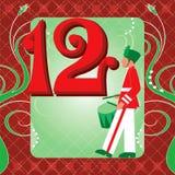 12de Dag van Kerstmis Stock Afbeeldingen