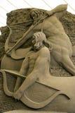 12de Internationaal Festival van de Beeldhouwwerken van het Zand Stock Fotografie