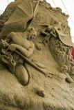 12de Internationaal Festival van de Beeldhouwwerken van het Zand Stock Afbeelding