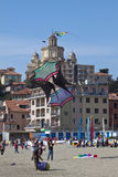 The 12nd kite festival in Imperia 2011: a big kite Royalty Free Stock Photo