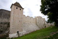 12th århundradefästningväggar Arkivfoton