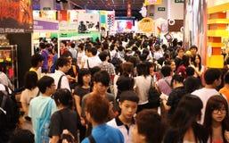 12th Ani-Com & Games Hong Kong. Hong Kong - July 30: Many visitors attend the 12th Ani-Com & Games Hong Kong at the Hong Kong Convention & Exhibition Centre on royalty free stock images