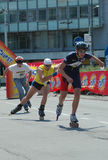 12th belgrade race roller skates Στοκ Εικόνες