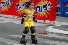 The 12th Belgrade Roller Skates race. Young girl on the 12th Belgrade Roller Skates race Stock Photography