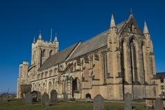 12th Century English Church. Against a blue sky Royalty Free Stock Photos