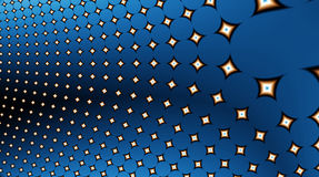 12uv2 fractal πεδίων αστέρια Στοκ Εικόνα