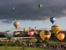13ème Championnat chaud européen de ballon à air Image libre de droits