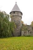13世纪塔楼和墙壁 库存照片