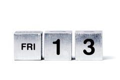 13个多维数据集星期五 免版税库存照片