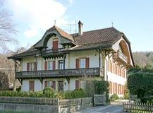 13个房子老瑞士 免版税库存图片