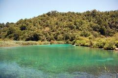 13个湖plitvice 库存照片