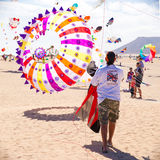 13个节日费埃特文图拉岛风筝11月 免版税库存照片