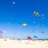 13个节日费埃特文图拉岛风筝11月 免版税库存图片