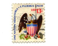 13分老邮票美国 库存图片