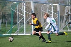 13场下比赛kaposvar佩奇足球 免版税库存照片