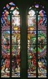 13块玻璃被弄脏的视窗 库存图片