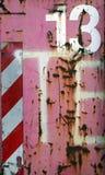 13金属桃红色生锈 免版税库存照片