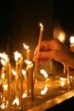 13 κεριά νέα Στοκ Εικόνες