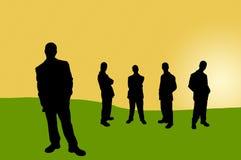 13 бизнесмены теней Стоковая Фотография