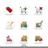 13 кнопки отсутствие покупкы серии Стоковые Фотографии RF
