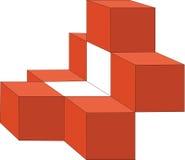 13 кубика иллюстрация вектора