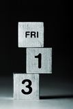13 кубика fri Стоковое Фото