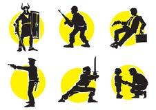 13 силуэта икон кино Стоковое Изображение