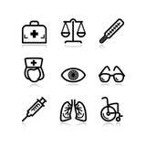 13 черных иконы установили сеть Стоковые Изображения