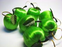 13 яблоко - зеленая сатинировка Стоковые Изображения