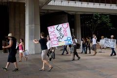 13 anty apec Honolulu zajmuje protest Zdjęcie Royalty Free