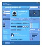 13 błękitny projekta szablonu tematu wektoru sieć Zdjęcie Stock