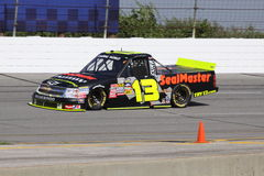 13 de Reeks van Johnny Sauter Qualifying NASCAR Truck Royalty-vrije Stock Foto's
